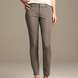 Banana Republic Womens Sloan Fit Slim Ankle Pant